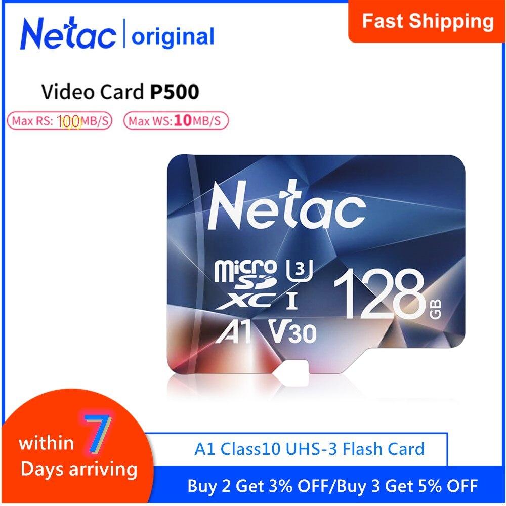 Netac Micro SD Card 512GB 256GB 64GB 32GB 16GB Memory Card Sd Card 128GB C10 UHS 1 U3 V30 P500 Flash Card Memory Microsd TF Card