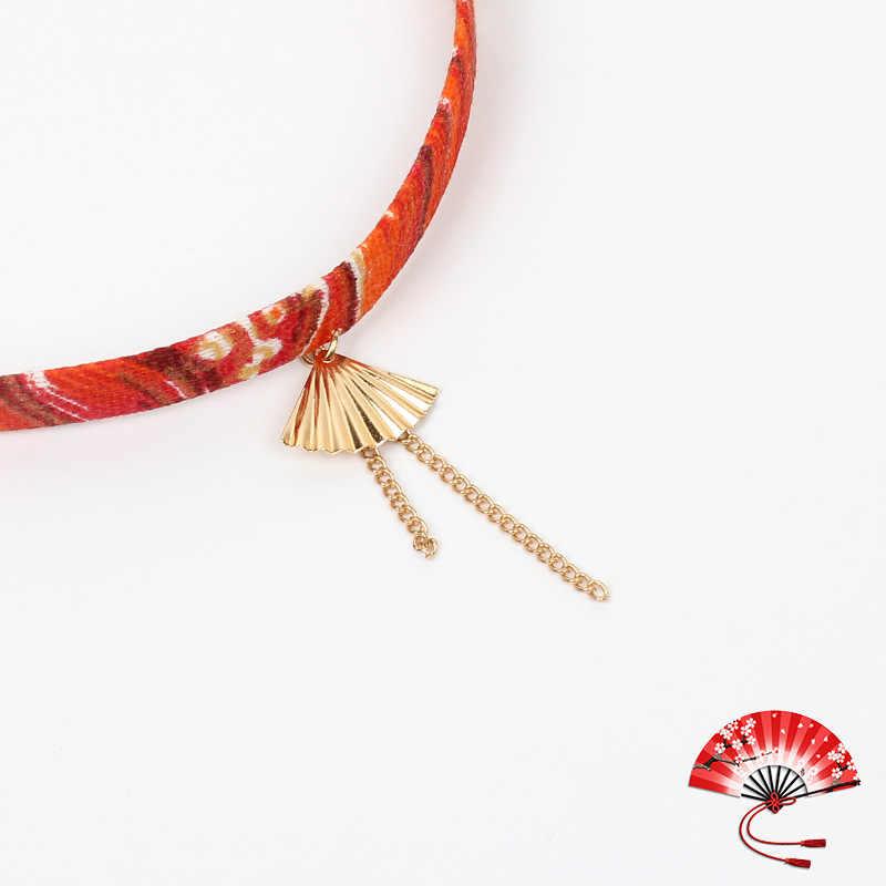 1 pieza dibujo carpa cinta cuerda Animal ajustable collar clásico romántico 7 colores gato pájaro gargantilla corto lindo collar de montaña