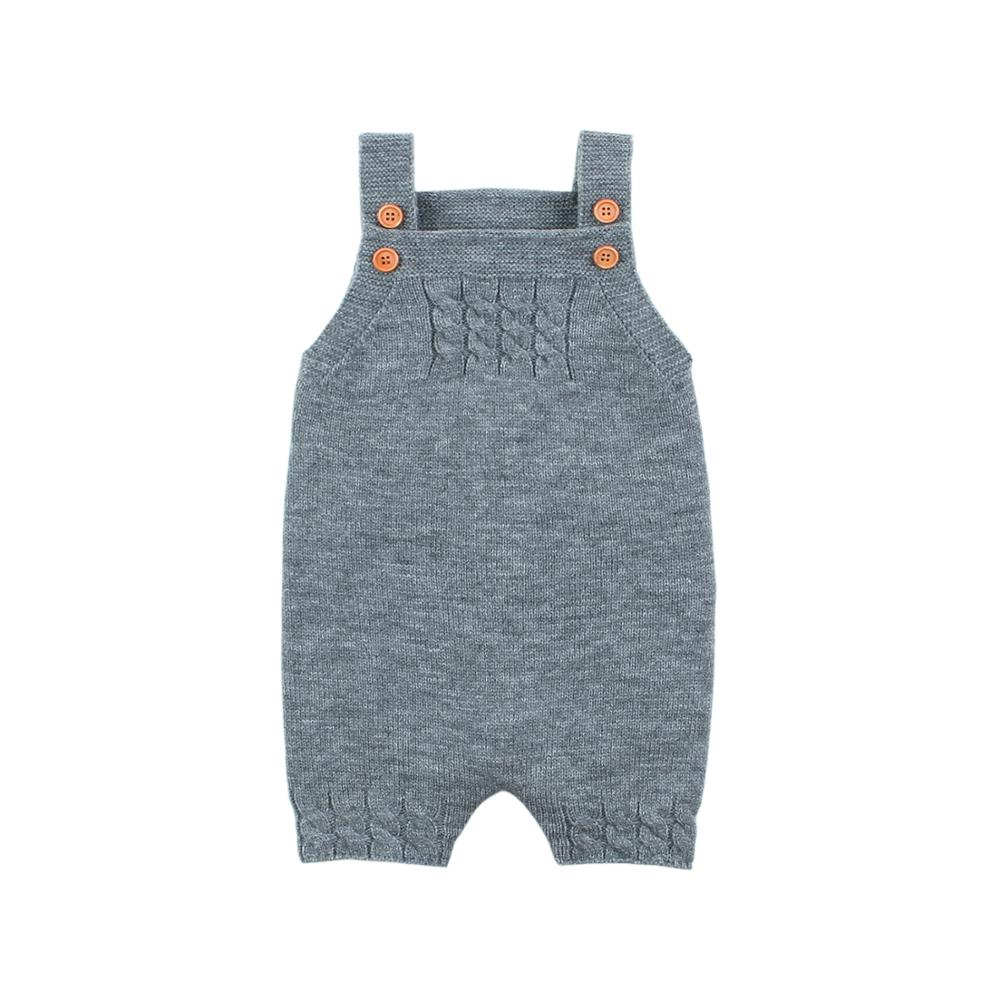 Toddler Infant Baby Girl Romper Knit Backless Overalls Jumpsuit Clothes Outfits