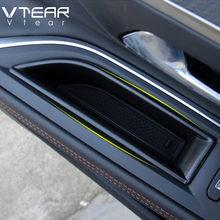 Vtear para Peugeot 3008 3008GT 5008 accesorios para el coche accesorios compartimento de almacenamiento de puerta delantera tapa organizador del Interior Trim 2021-2017 estilo