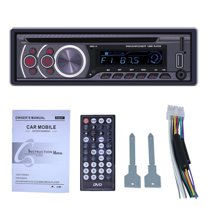 Image 5 - 1 عرض سيارة CD DVD VCD لاعب بلوتوث 4.0 يدوي راديو FM إخراج الفيديو الموسيقى مشغل ديفيدي/USB/AUX/TF LCD السيارات الوسائط المتعددة