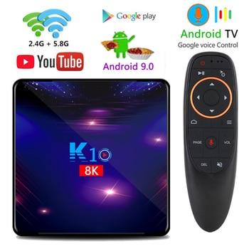 2020 new STUOTOP K10 android 9.0 smart tv box 4k 8k 4gb 32gb 64gb 128gb amlogic s905x3 set-top box youtube IPTV media player