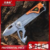 SANRENMU 6050 Tasche Klapp Messer Outdoor Camping Jagd EDC Mini Sharp Multi-Funktionale Für Verteidigung Von Militär Industrie Werkzeug