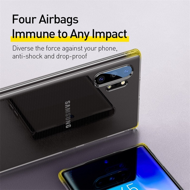 Baseus Samsung Galaxy Note 10 Plus Soft Silicone Transparent Shockproof Back Case Cover