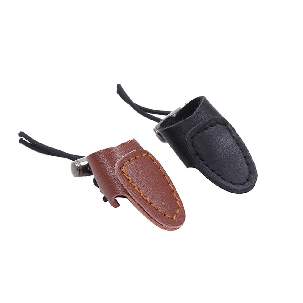 Thumb Finger Tip Luxury PU Leather Archery Thumb Protector Guard Ring Tab on For Hunting Shooting Arrow Bow Bandage Gloves