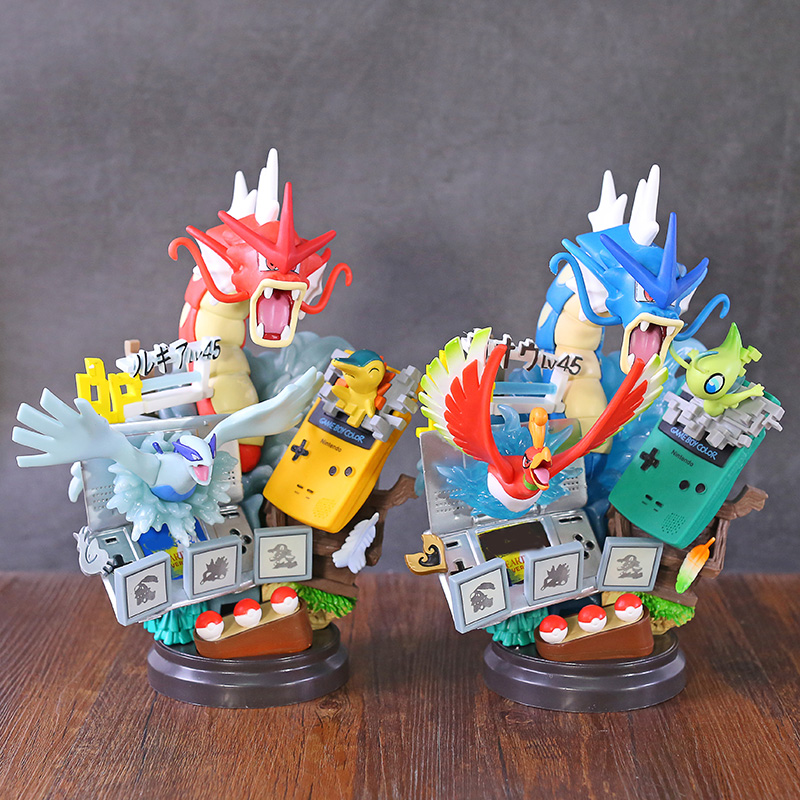 Anime Statue Dream Memory Series Gyarados Celebi Ho-Oh Lugia Chikorita Action Figure Toys pkm Figure Toys Gifts for Kids image