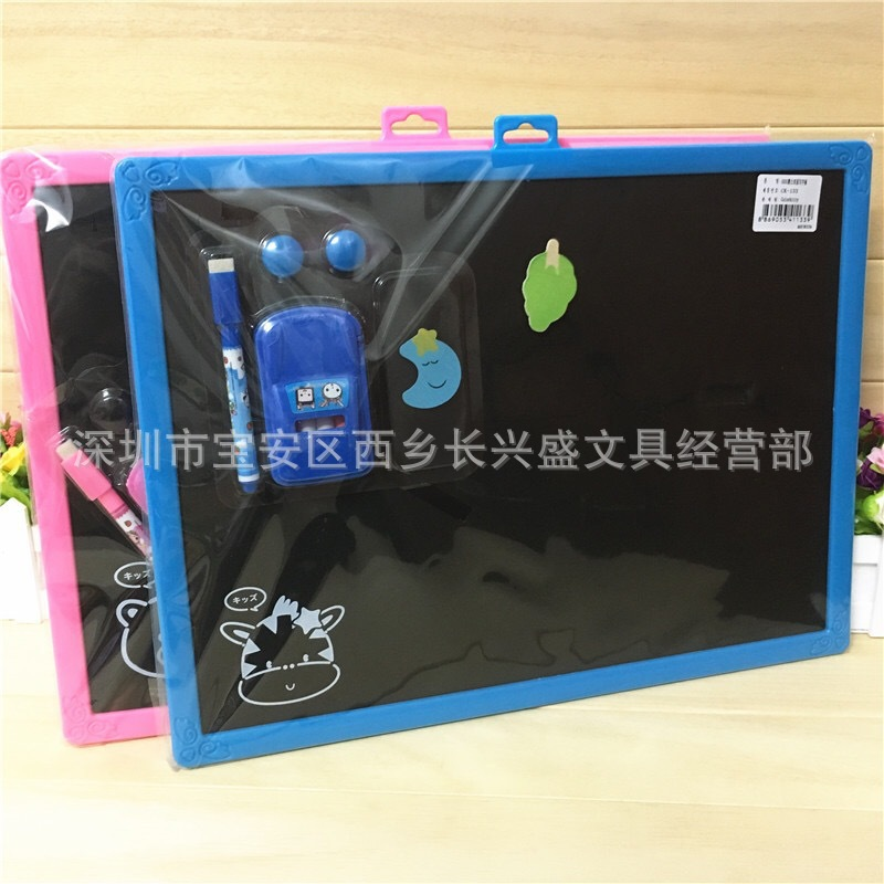 South Korean Cartoon Large Size Blackboard Whiteboard With Magnetic Black And White Double-Sided Board Graffiti Painted-Wipe Lea