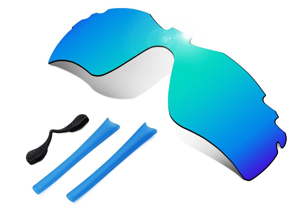 Glintbay 100% Precise-Fit Blue Replacement Lenses and Rubber kit for Oakley Radar Path Vented Sunglasses