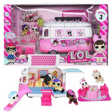 L.O.L.SURPRISE! LOL Surprise Dolls Toy Mobile Picnic Car PVC Action Figure Lol Doll Set Toys for Children  Birthday Gifts