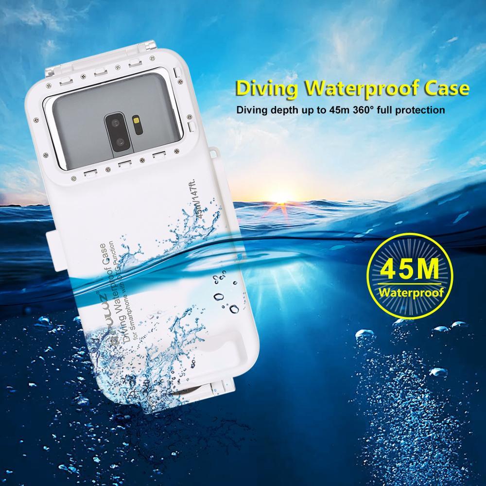 Universal 45m Unterwasser Abdeckung Wasserdicht Tauchen Gehäuse Foto Video Aufnahme Fall für Galaxy, Huawei, Xiaomi, google Android OTG