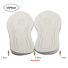 EXPfoot Genuine leather Knockkne foot care Pronation orthotic silicone gel heel cushion insole shoes pad feet sole man and women