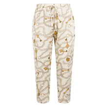 Pants Plus-Size Clothing Trousers Chain Lace-Up Printed Female Calf-Length Casual Summer