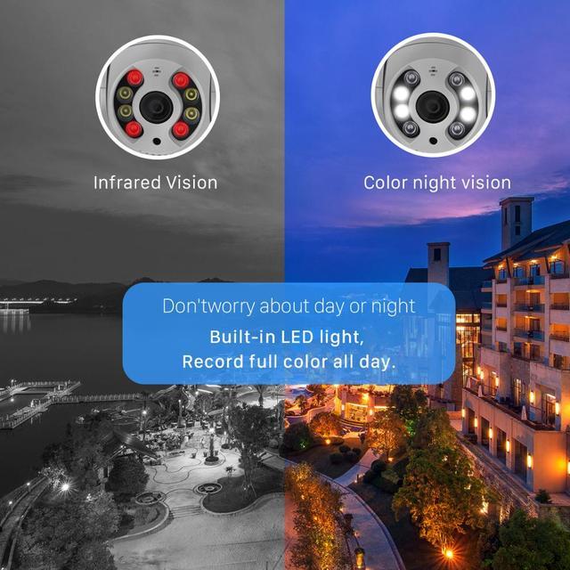 Mini caméra de Surveillance PTZ IP Wifi hd 5MP, dispositif de sécurité sans fil, avec suivi automatique, codec H.265, Zoom numérique x4, ia, détection humaine 4