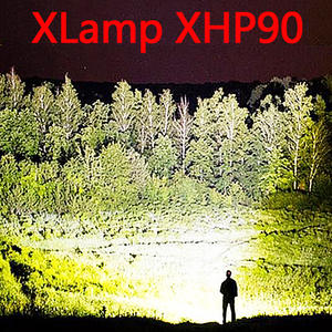 LED Flashlight Powerful-Torch Zoom XHP90 Hunting Rechargeable Waterproof XHP70.2 Super