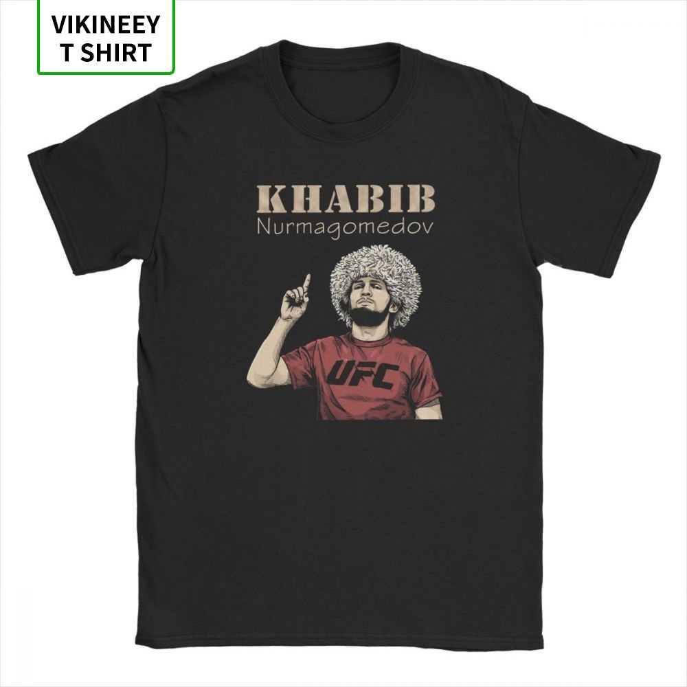 Männer Khabib Nurmagomedov Boxen T-Shirt 229 Boxen Freizeit Crew Neck Kurzarm Tops 100% Baumwolle Tees Sommer T Shirt