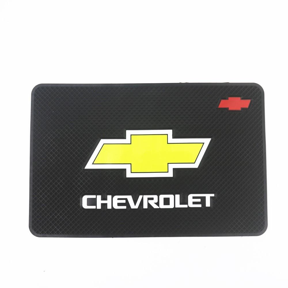 Car Logo Anti Slip Mat Phone Holder Non-Slip Mat Non Slip Pad For Chevrolet Colorado Cruze Spark Captiva Malibu Trax Aveo