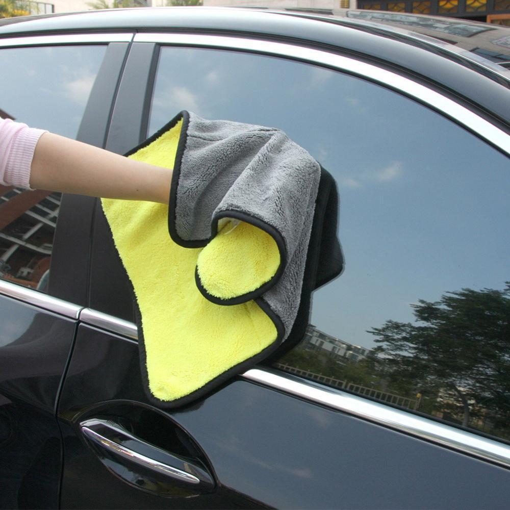 1pc Car Care Polishing Wash Towels Plush Microfiber Car Cleaning Drying Cloth Hemming Car Care Cloth