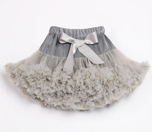 Пышные юбочки для девочек; летняя одежда для девочек; юбка-пачка; Одинаковая одежда для мамы и дочки; юбка для танцев для девочек - Цвет: Серебристый