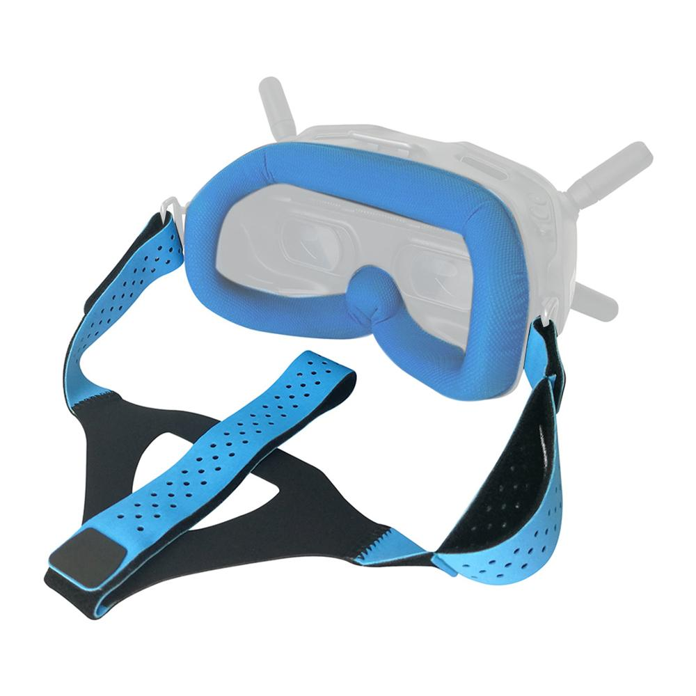Eye Pad With Adjustable Head Strap Band For DJI Digital FPV Goggles Face Plate Replacement Kit For Lycra Skin-friendly Fabric