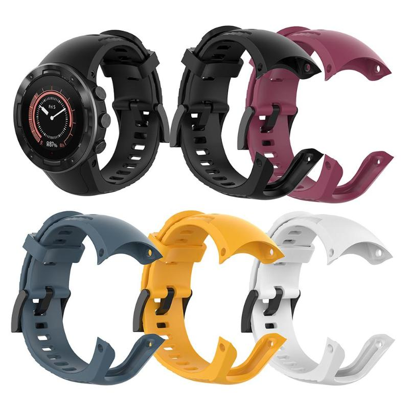 Silicone Adjustable Strap Wristband Replacement For SUUNTO 5 Smart Watch