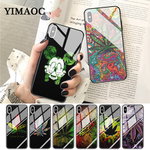 YIMAOC Abstractionism Art high weed Glass Phone Case for Apple iPhone XR X XS Max 6 6S 7 8 Plus 5 5S SE