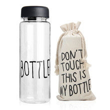 500Ml Plastic Sport Clear Fruit Bottle Lemon Juice Readily Drinking Water Have English Letters