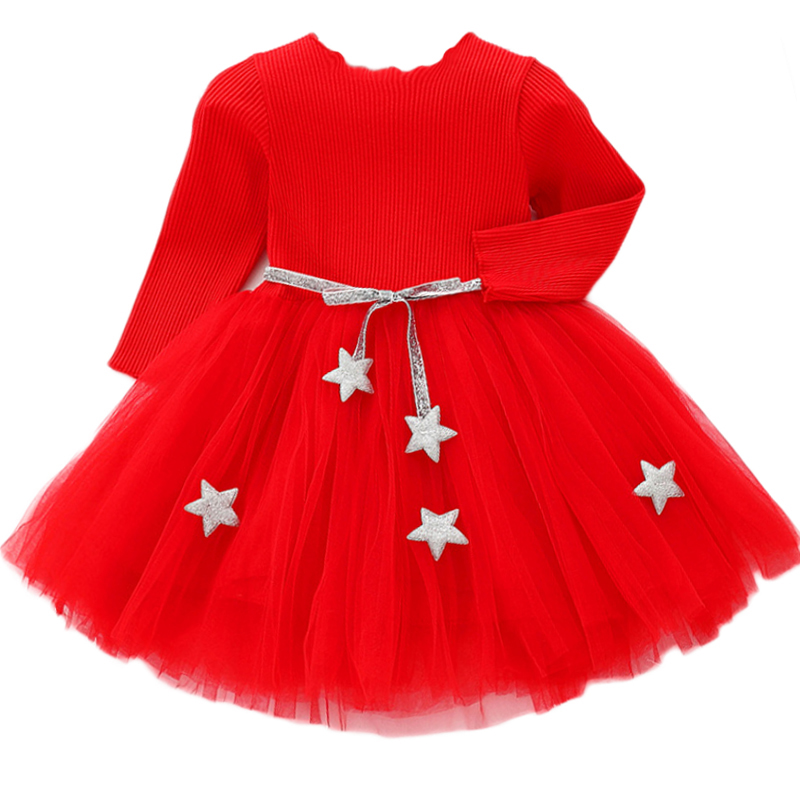 Baby Girls Spring Autumn Sweater Dress Infant Girl's Christmas Children Clothing Toddler Kids Dresses Clothes for 1- 6 Years 1