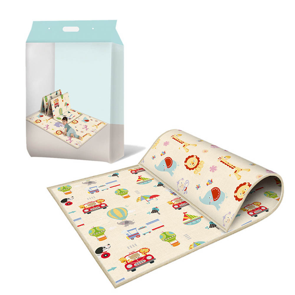Baby Waterproof Indoor Game Warm Carpet Play Anti-Fall Crawling Saft Mat Kids Protable Foldable Plays Area Rug Education Toy New