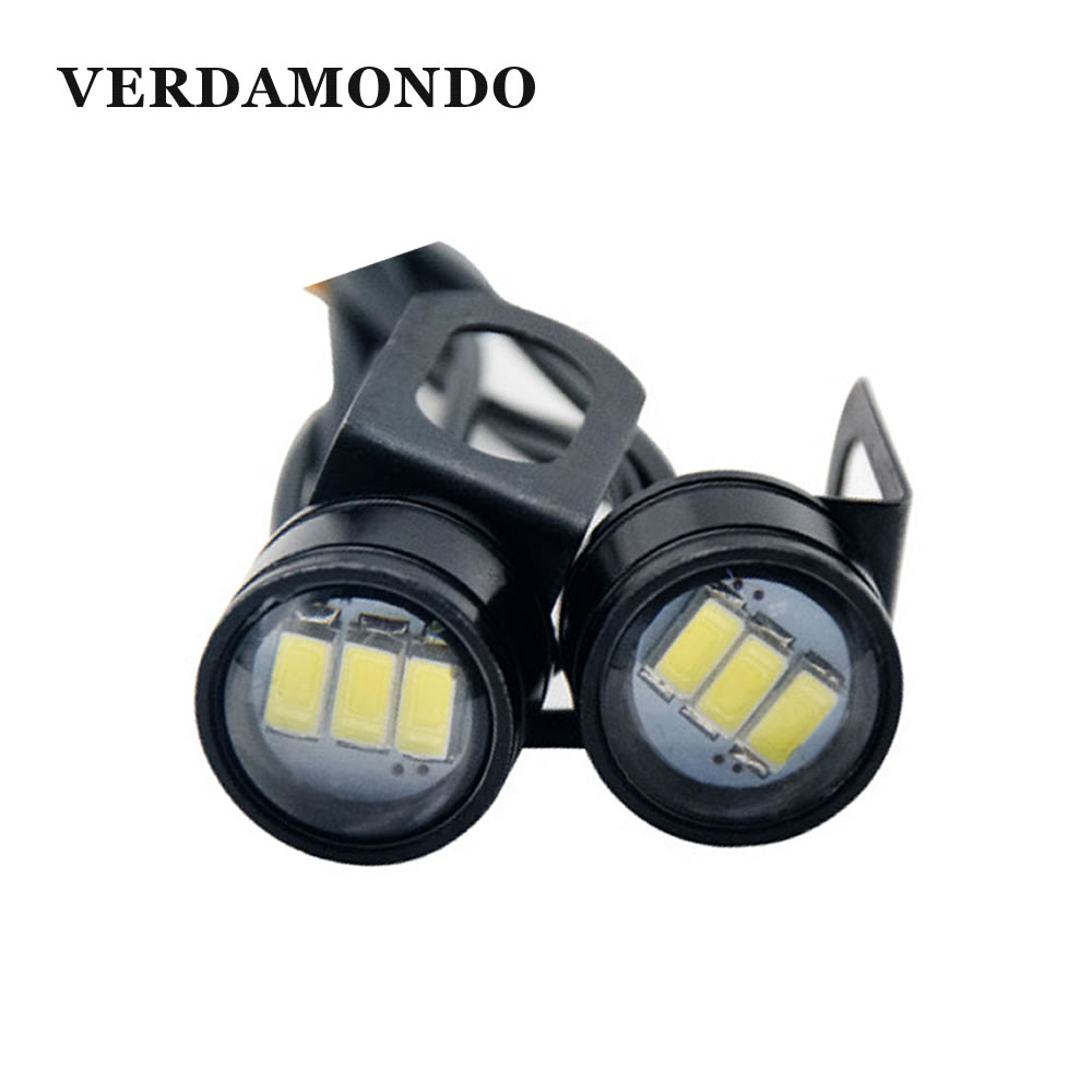2 Pcs Eagle Eye LED Bulb Reverse Backup Lights 3 5730 SMD DRL Daytime Running Light Signal Fog Lamp For Motorcycle 12V