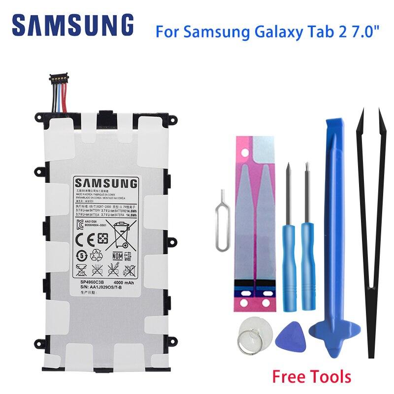 "Оригинал, SAMSUNG Tab 7,0 Tablet батарея SP4960C3B 4000 мАч для Samsung GALAXY Tab 2 7,0 ""GT-P3110 GT-P3113 P3100 P6200 P3113"