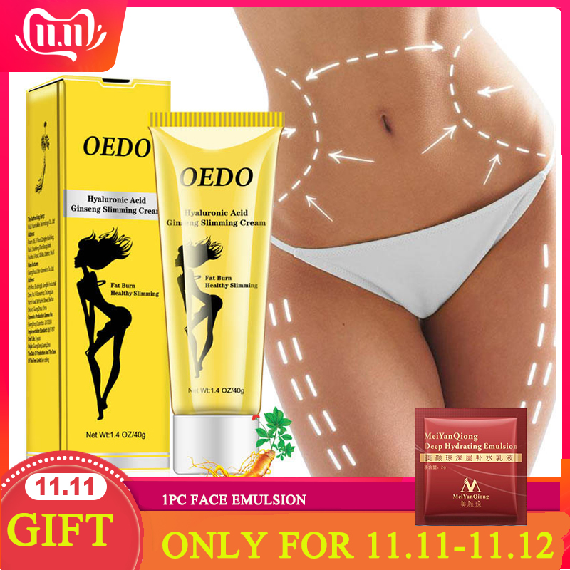 OEDO Hyaluronic Acid Ginseng Slimming Cream Reduce Cellulite Lose Weight Burning Fat Slimming Cream Health Care Burning Creams
