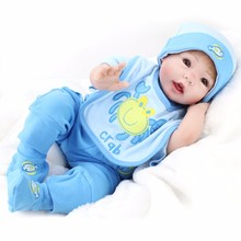 51 cm bebe reborn doll DOLLMAI hot selling toy silicone baby Realistic smile boy The best holiday gift for child