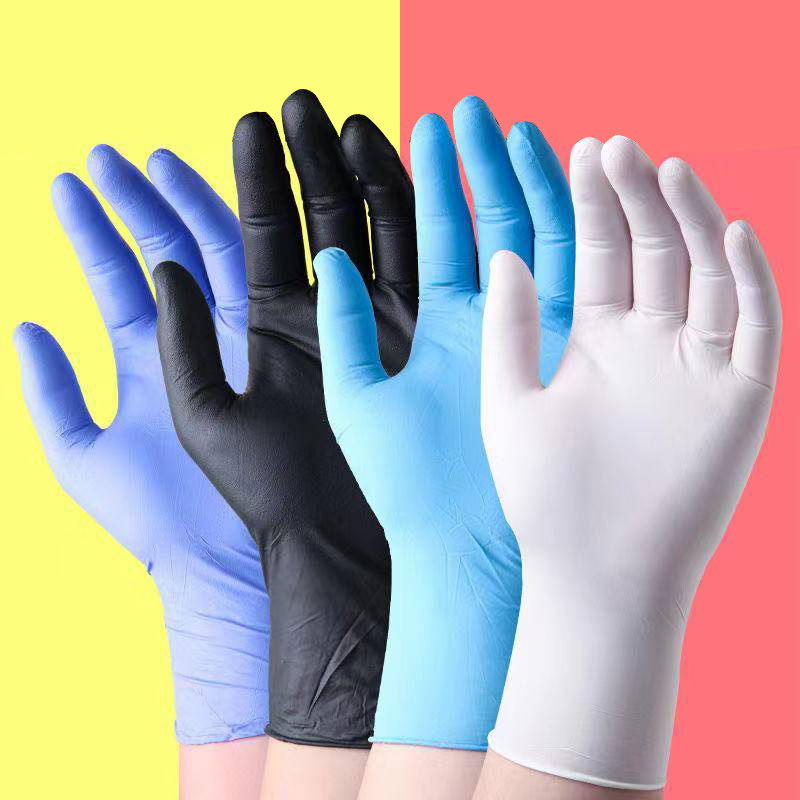 Manufacturers Direct Selling Disposable Nitrile Gloves 100 Pieces Food Protection Tattoo Electronic Experiment Check Wholesale