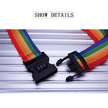 цены Luggage Strap Cross Strap Packing Adjustable 200CM Travel Suitcase Polyester 3 Digits Password Lock Luggage Strap Belts