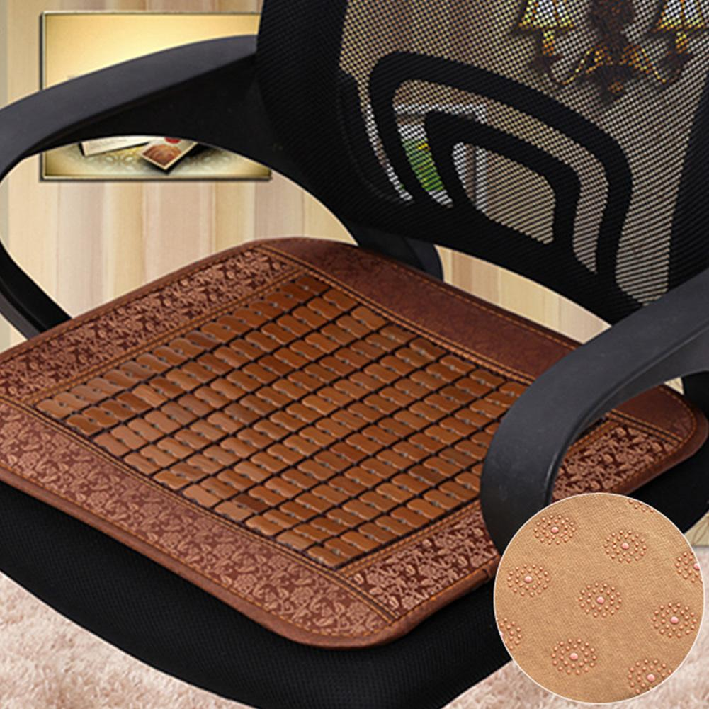 Universal Summer Mat Seat Office Computer Chair Breathable Bamboo Seat Cushion Car Mat Seat Cushion Cool Mat Cushion Seat Decor