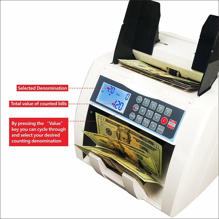 Novo design frontal carregamento bill contador uvmgirdd