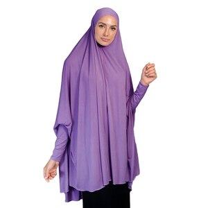 Image 5 - מוסלמי נשים גדול צעיף חיג אב Khimar האסלאמי מלא כיסוי תפילה ניקאב הבורקה ארוך Jilbab העבאיה בגדים ערבים מזרח התיכון עמירה