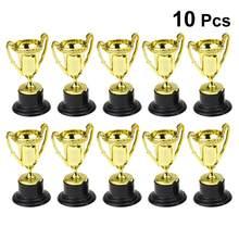 10 adet Mini plastik altın kupaları kupa parti çocuk erken öğrenme oyuncaklar ödülleri çocuk tatil kupa ödül hediye