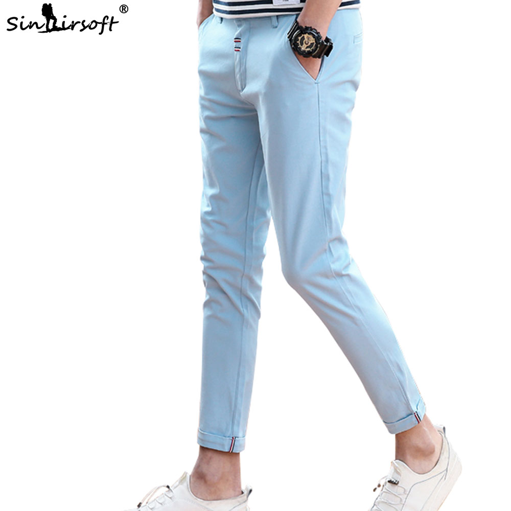 Jogger Harlan Men's Spring And Summer Fashion Slim Pencil Pants Casual Long Section Of Pure Cotton Solid Color 27-36 New Listing