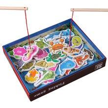 Новинка, Лидер продаж, Детские рыболовные игрушки, 32 шт., деревянные магнитные рыболовные Игрушки для девочек, набор магнитных игр, детские развивающие игрушки для мальчиков