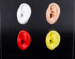 Silicone ear model soft human size jewelry display cosplay tool hearing aid display