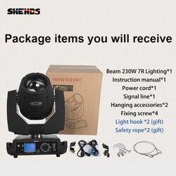 Snelle Verzending LED Beam Moving Head 7R Beam 230W Touch Screen Beam Voor DJ Disco Dance Floor Nachtclub Partijen tonen Gratis Verzending