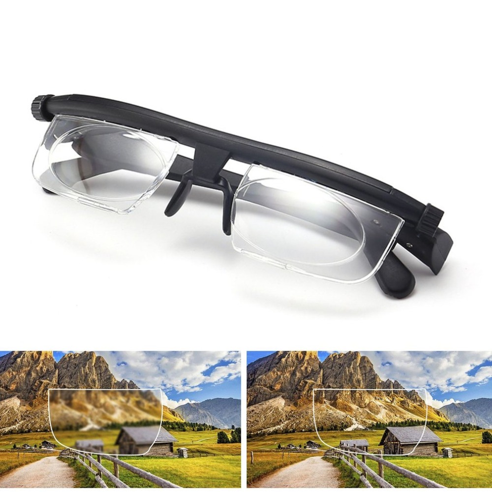Adjustable Reading Glasses Lenses For Nearsighted Farsighted Computer Reading Driving Unisex Correction Binocular Focus Eyeglass