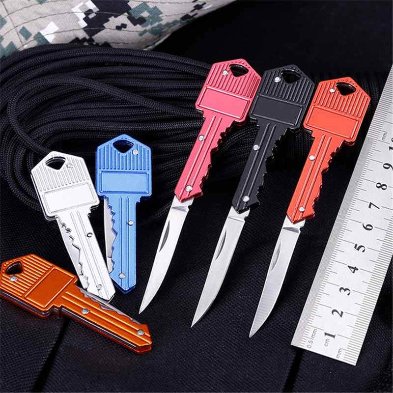 Outdoor Mini Utility Pocket Portable Key Knife Paper Wood Cutter Letter Opener School Office Supply Stationery Keychain Gift