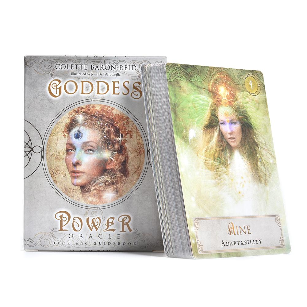 52 Pcs Sheets Tarot Cards Goddess Power Oracle Deck Games Guidebook Table Board Game Playing Card For Family Party Entertainment