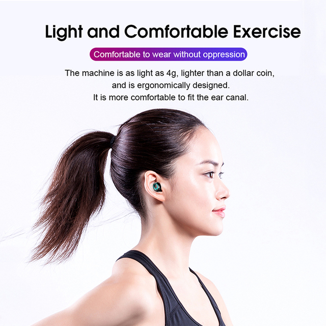 TWS Bluetooth Wireless Headphones with Microphone 3500mah Earphones HIFI Stereo Noise Cancelling Headset earbud auriculares 5
