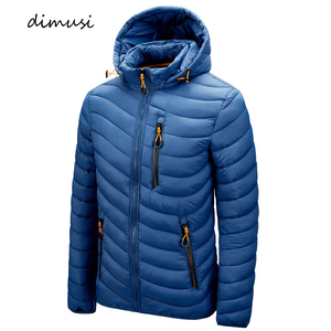 DIMUSI Winter Men's Jacket Fashion Mens Cotton Down Warm Parkas Casual Outwear Windbreaker Thermal Hooded Coats Mens Clothing