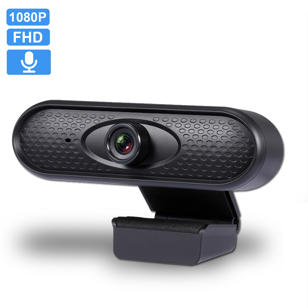 Mini Webcam 1080P HD Computer Pc Built-in Fidelity Microphone USB WebCamera For Live Broadcast Video Conference Work Webcam