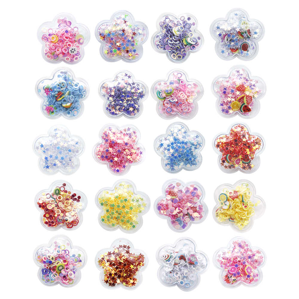 30*30mm Star Shape Transparent Qucksand Shaker Bling Sequins DIY Make Hair Clip Accessories Craft Phone Decoration,1Yc10434