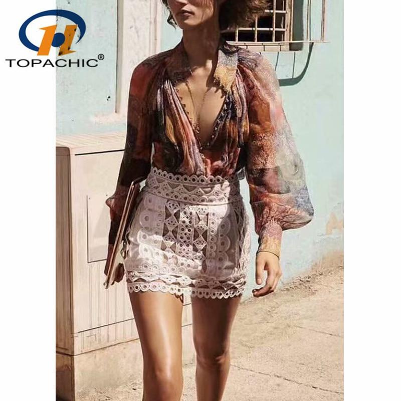 3.27 wiosna lato designerska bluzka 2019 nowych moda nit drążą hafty spódnica damska niebieski/biały w Spódnice od Odzież damska na AliExpress - 11.11_Double 11Singles' Day 1
